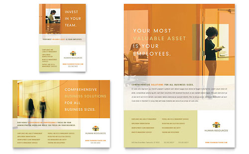 HR Consulting Flyer & Ad Template Design