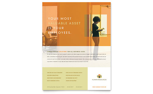 HR Consulting Flyer Template Design