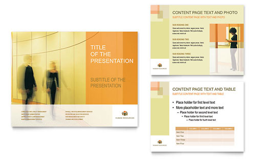 HR Consulting PowerPoint Presentation Template Design