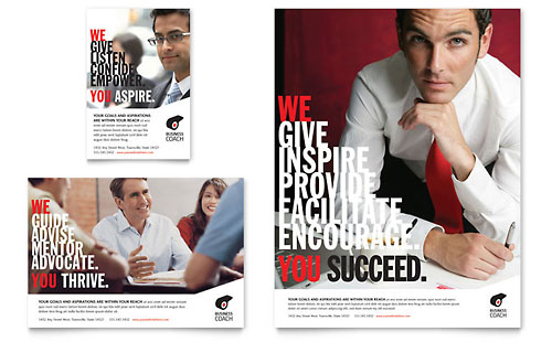 Business Executive Coach Flyer & Ad Template Design