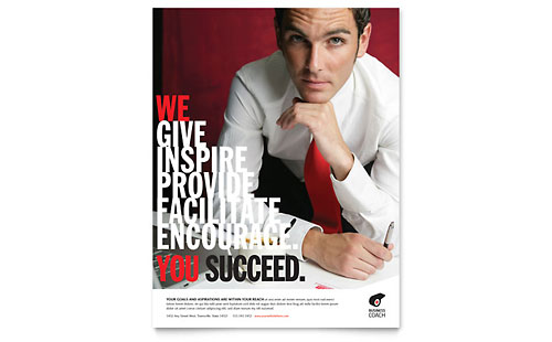 Business Executive Coach Flyer Template Design