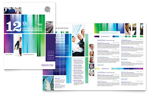 Business Leadership Conference Brochure Design Template