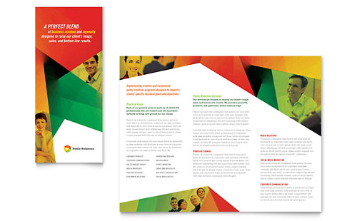 Public Relations Company - Tri Fold Brochure Template