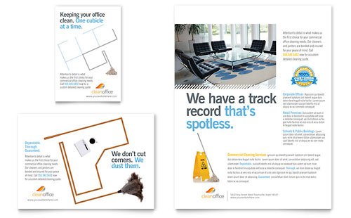 Janitorial & Office Cleaning - Flyer & Ad Template Design
