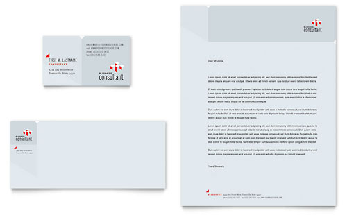 Corporate Business Business Card & Letterhead Template Design