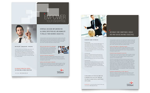 Corporate Business Datasheet Design Template