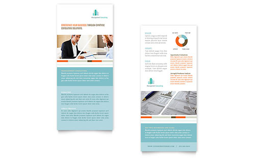 Management Consulting Rack Card Template Design