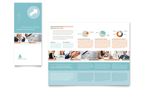 Management Consulting Tri Fold Brochure Template Design