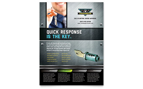 Locksmith Flyer Template Design