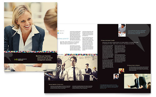Human Resource Management - Brochure Template Design