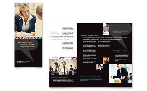 Human Resource Management - Tri Fold Brochure Template Design