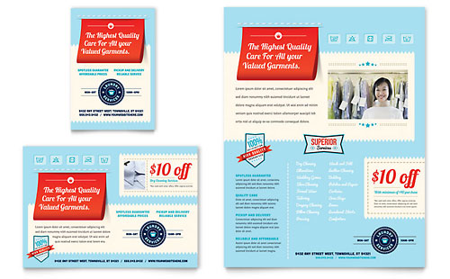 Laundry Services Flyer & Ad Template Design
