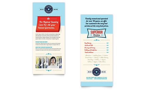 Laundry Services Rack Card Template Design