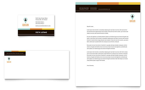 Recruiter Business Card & Letterhead Template Design