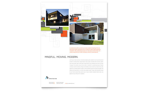 Architectural Design Flyer Template Design