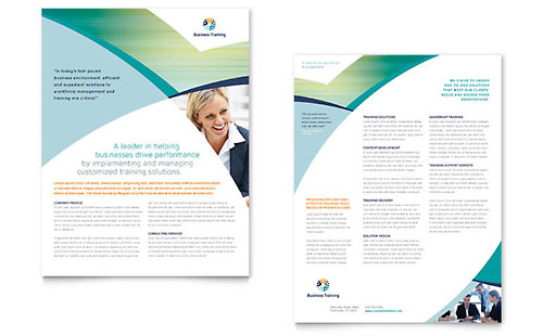 Business Training Datasheet Template Design