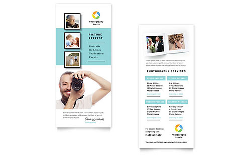 Photographer Rack Card Template Design