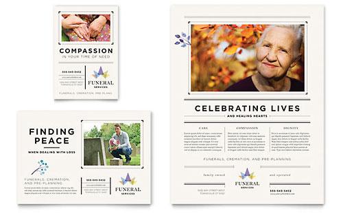 funeral services brochure template design