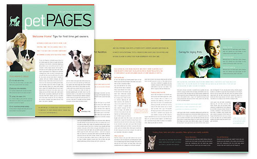 Veterinary Clinic Newsletter Template Design