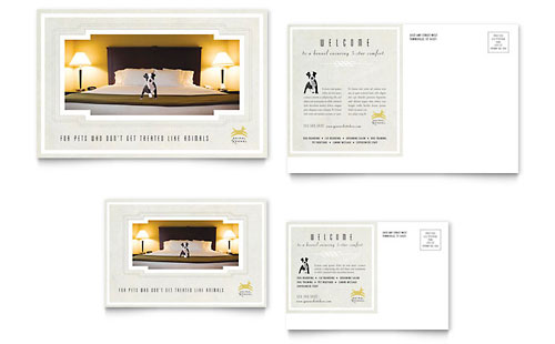 Pet Hotel & Spa Postcard Design Template