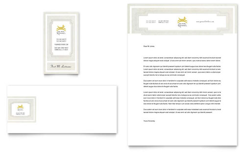 Pet Hotel & Spa Business Card & Letterhead Template Design