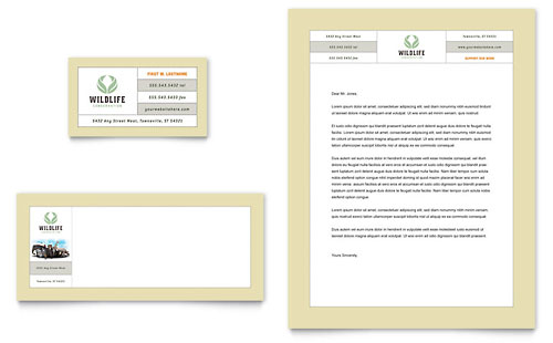 Nature & Wildlife Conservation Business Card & Letterhead Template Design
