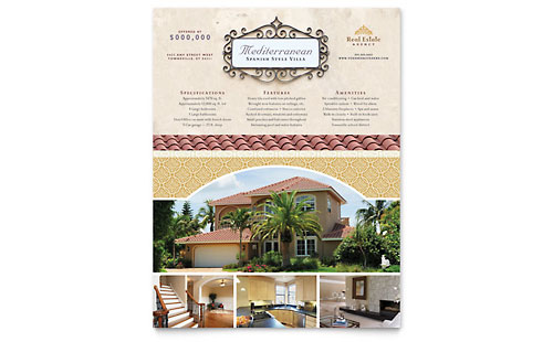 Luxury Real Estate Flyer Template Design