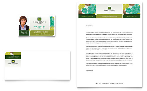 Real Estate - Business Card & Letterhead Template Design