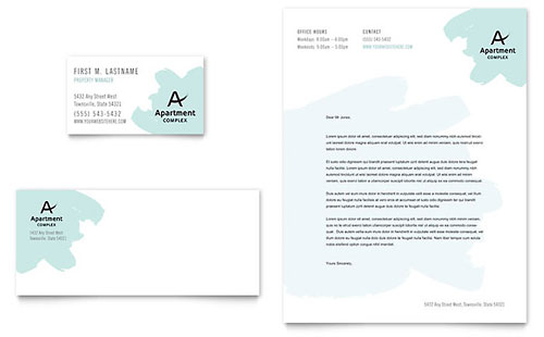 Apartment Business Card & Letterhead Template Design