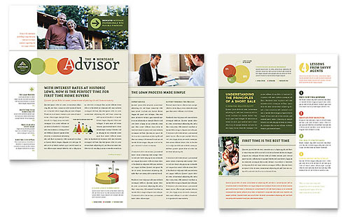 Mortgage Broker Newsletter Design Template