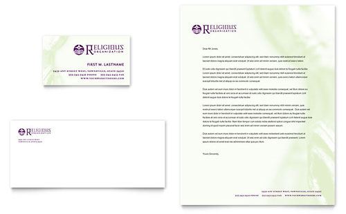 Catholic Parish and School - Business Card & Letterhead Template Design