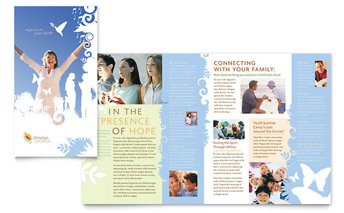 Christian Church - Brochure Template Design
