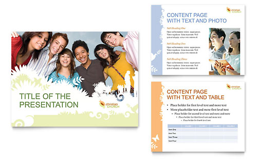 Christian Church PowerPoint Presentation Template Design