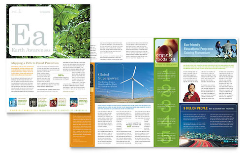 Environmental & Agricultural Non Profit Newsletter Template Design