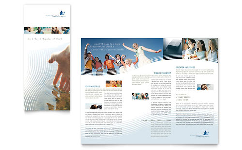 Christian Ministry Tri Fold Brochure Template Design