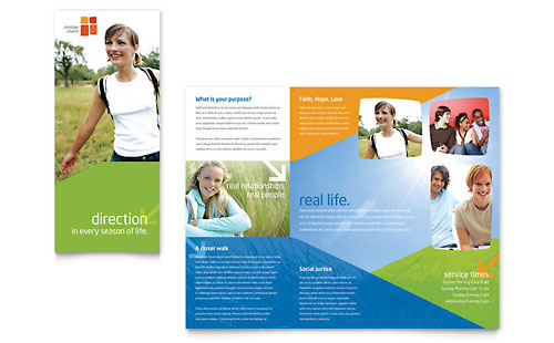 Church Youth Ministry Brochure Template Design
