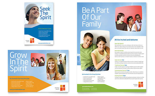 Church Youth Ministry Flyer & Ad Template Design