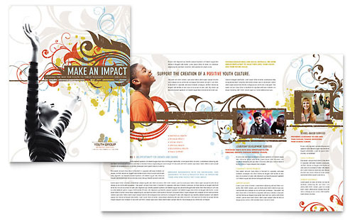 Church Ministry & Youth Group - Brochure Template Design