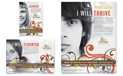 Church Youth Group Flyer & Ad Template Design