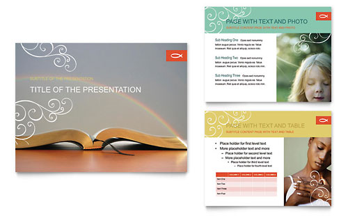 Christian Church - PowerPoint Presentation Template Design