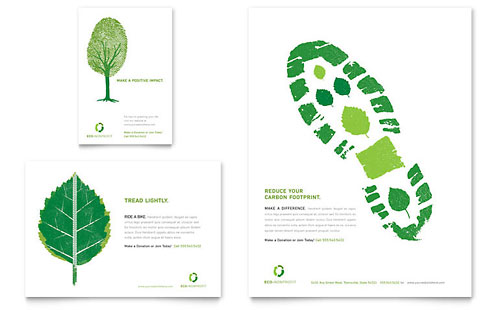 Environmental Non Profit Flyer & Ad Template Design