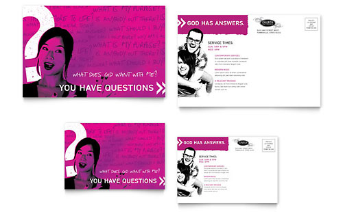 Church Outreach Ministries - Postcard Template Design