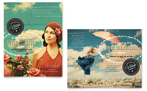 Vintage Clothing - Poster Template Design