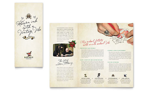 Body Art & Tattoo Artist Brochure Template Design