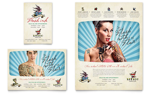 Body Art & Tattoo Artist Flyer & Ad Template Design