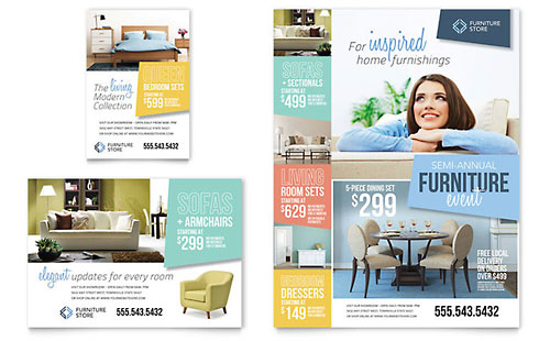 Home Furnishings Flyer & Ad Template Design