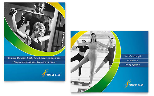 Sports & Health Club Poster Template Design