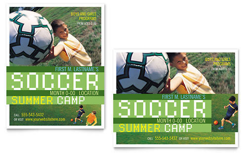 Soccer Sports Camp Poster Template Design