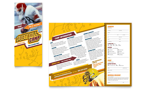 Football Sports Camp - Brochure Design Template