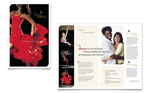 Dance School - Brochure Template Design